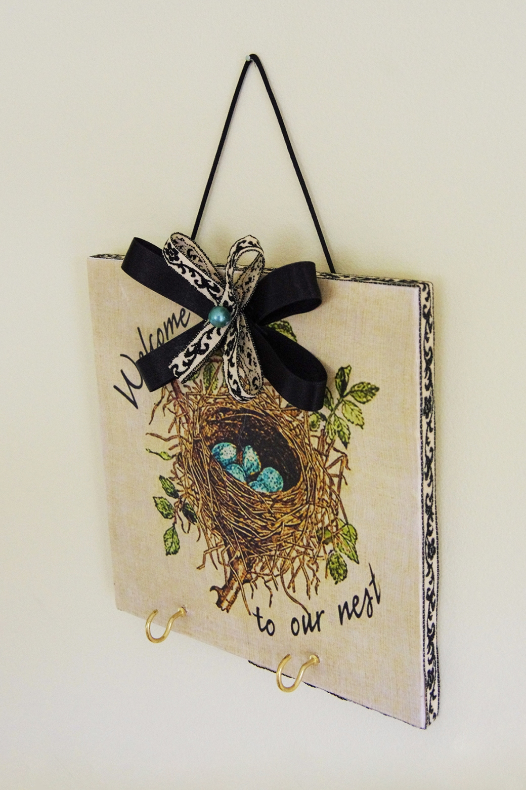 Bird Nest Key Plaque
