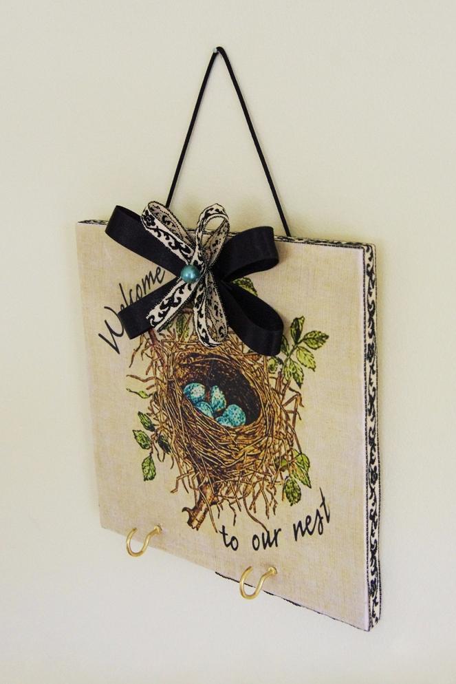 Bird Nest Key Plaque - IMGP7677