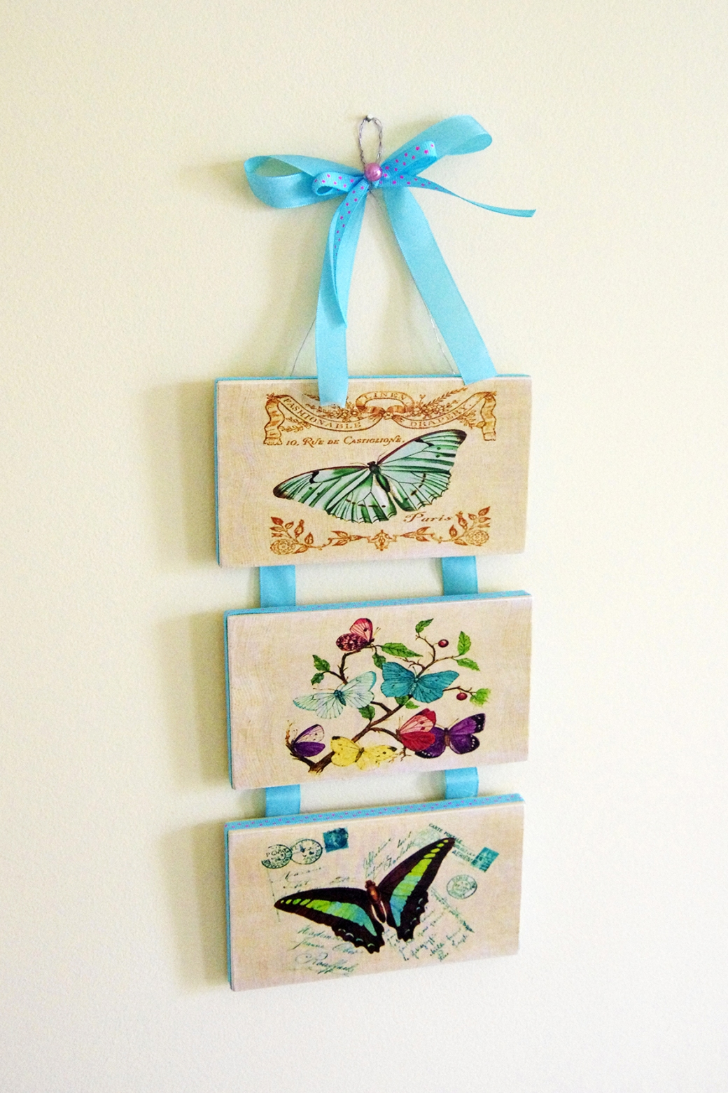 Blue Butterfly Plaques