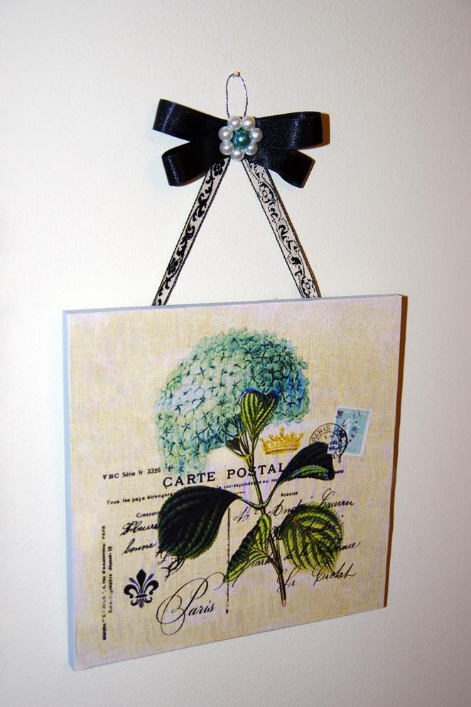 Blue Flower Plaque - IMGP7682