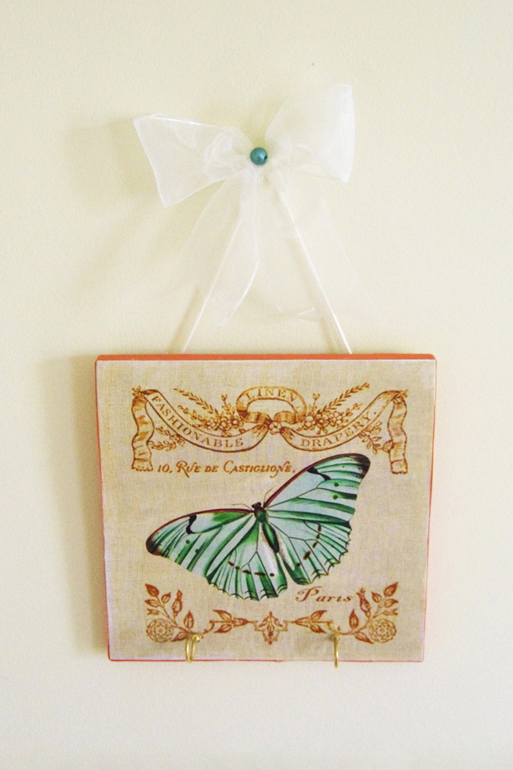 Green Butterfly Plaque