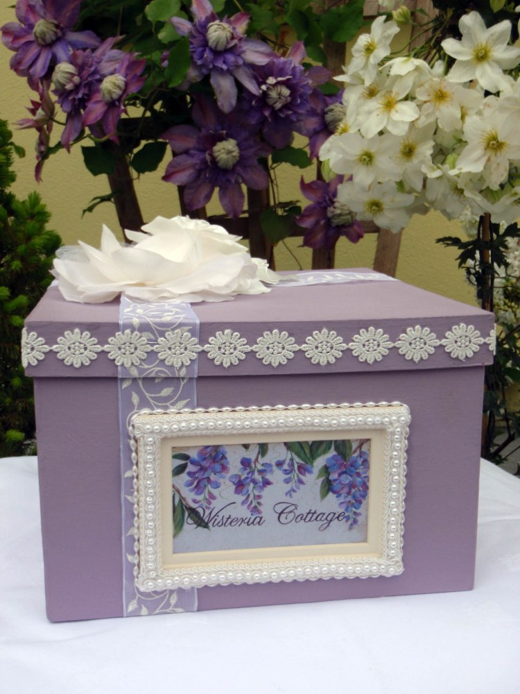 Wisteria Keepsake Box - Front View