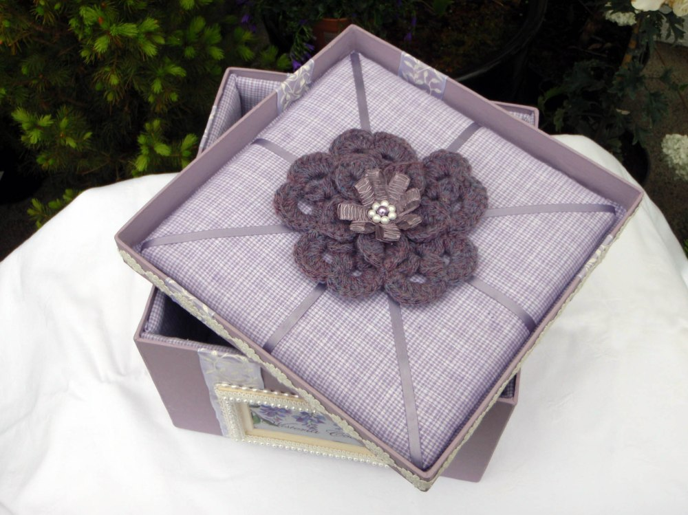 Wisteria Keepsake Box (inside lid).