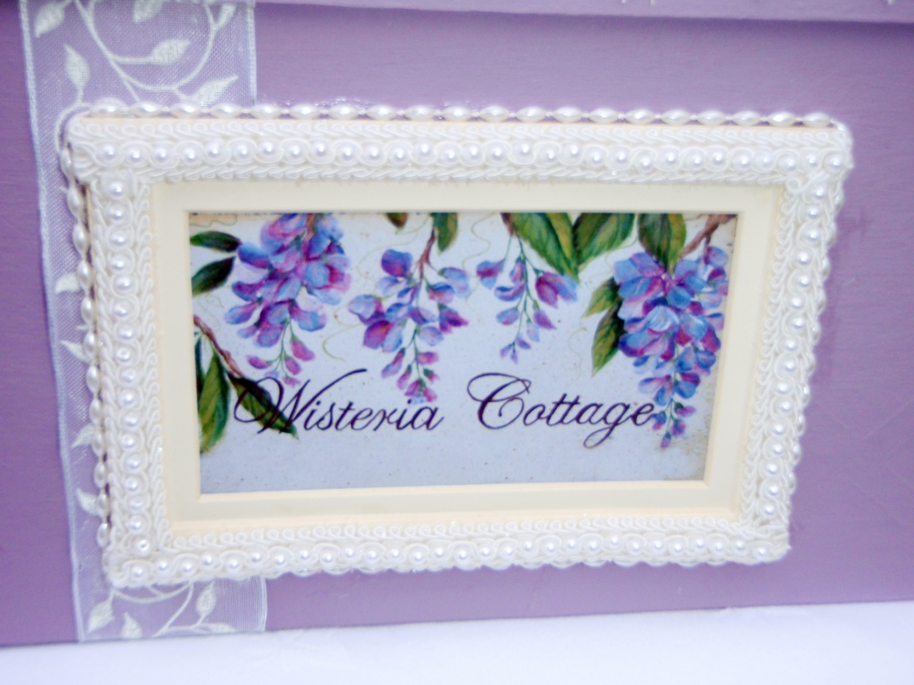 Wisteria Keepsake Box (Front Panel)