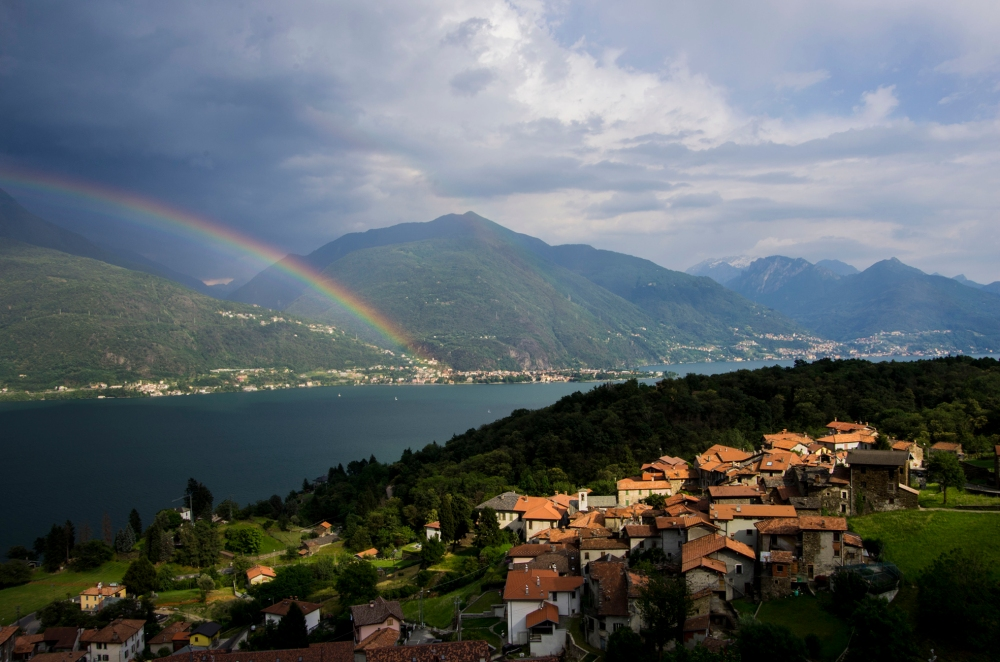 View from our apartment in Pianello del Lario, Lake Como - June 2014