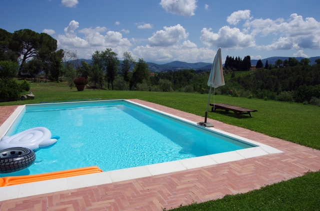 Pool with a view, Impruneta, Florence - June 2014