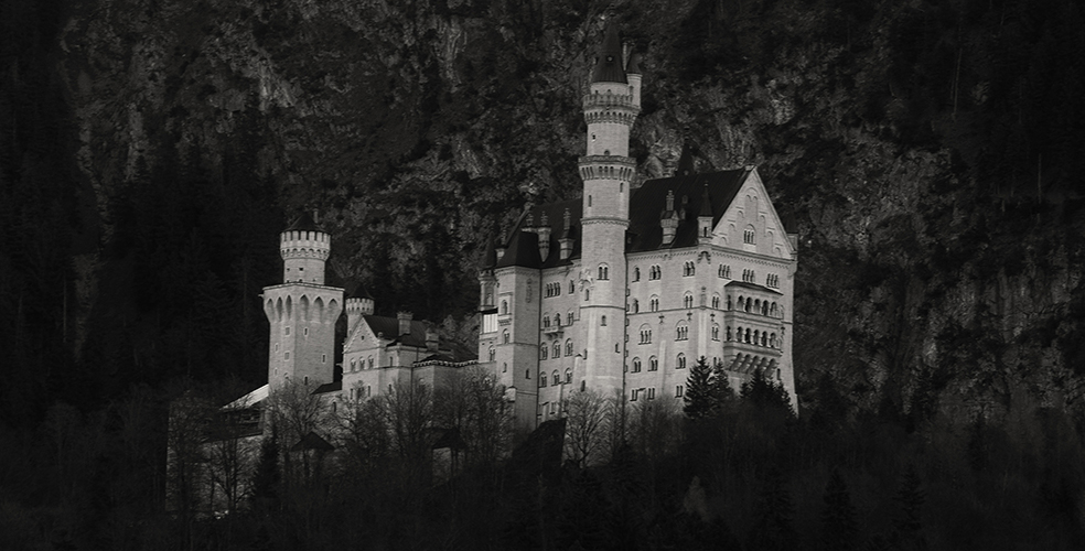 Füssen, Germany – Christmas 2016. Neuschwanstein Castle