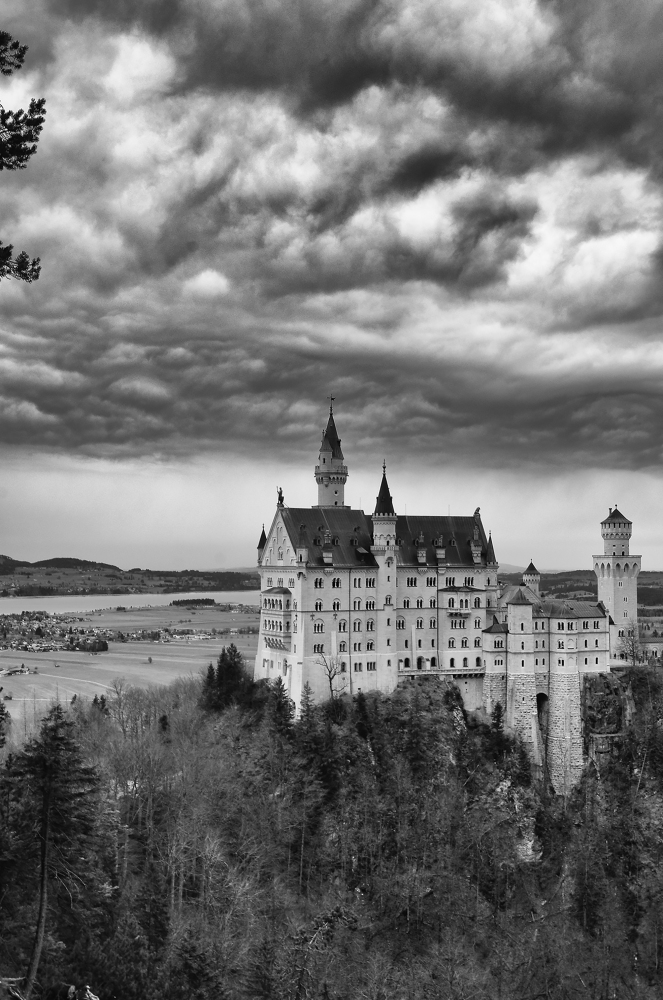 Füssen, Germany - Christmas 2016. Neuschwanstein Castle