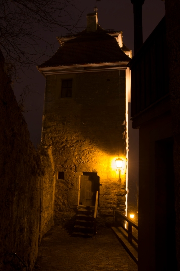 Rothenburg ob der Tauber, Germany - Christmas 2016. On the walls, it's deathly quiet and scary but we loved it.