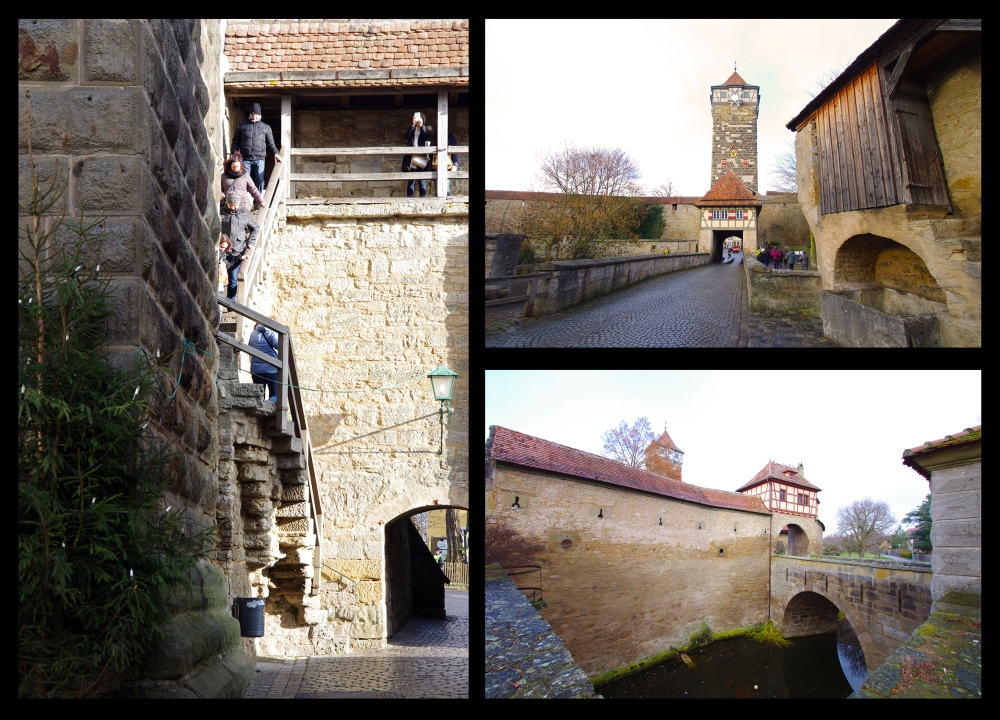 Rothenburg ob der Tauber, Germany - Christmas 2016. The walls of Rothenburg.
